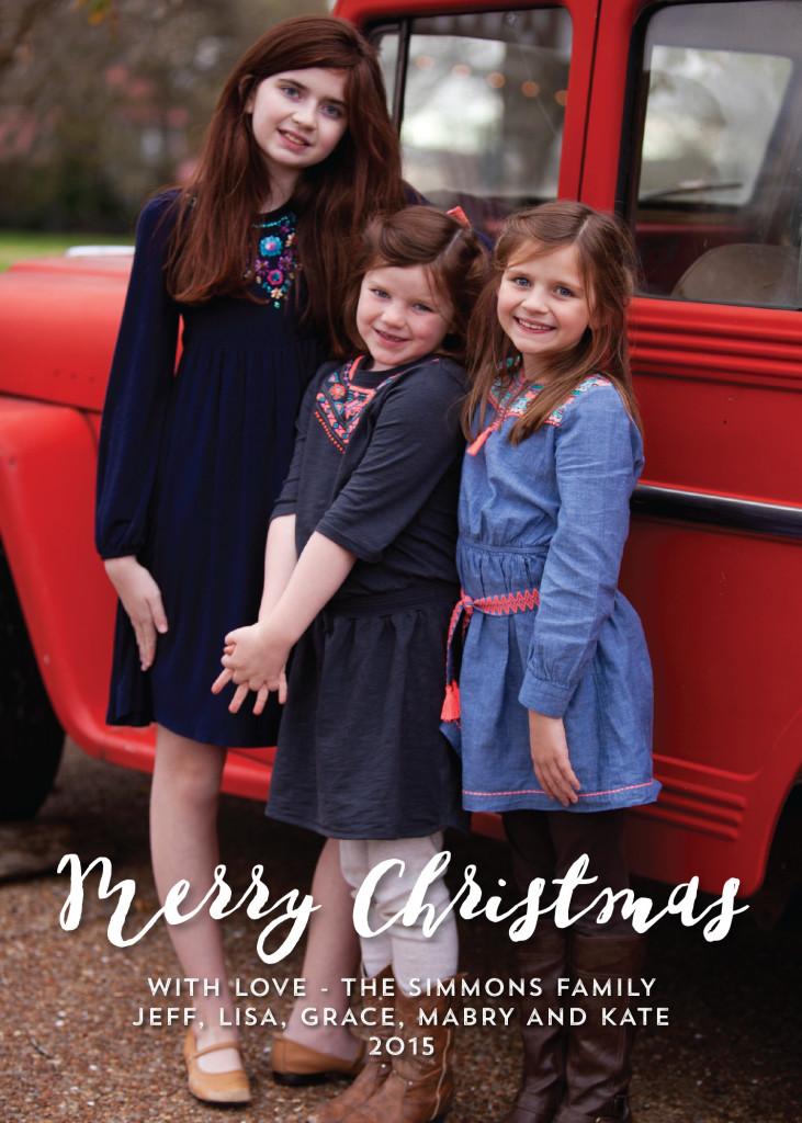 Simmons Christmas Card